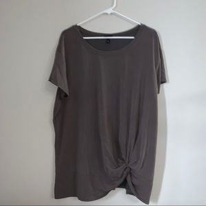 Torrid Tee Wrapped Up At Front Shirt